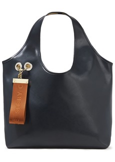 See By Chloé Woman Jay Embellished Washed-leather Tote Storm Blue