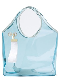 See By Chloé Woman Jay Leather-trimmed Embellished Pvc Tote Sky Blue