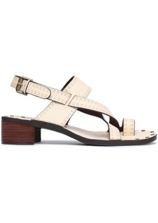 See By Chloé Woman Laser-cut Leather Sandals Beige