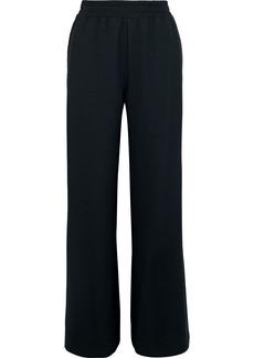 See By Chloé Woman Lattice-trimmed Crepe Wide-leg Pants Black
