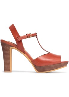 See By Chloé Woman Leather Platform Sandals Brick