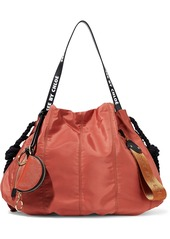 See By Chloé Woman Flo Large Leather-trimmed Shell Shoulder Bag Brick