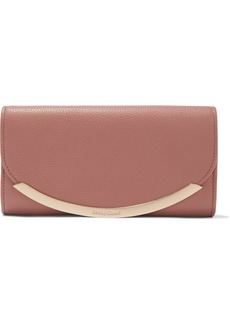 See By Chloé Woman Lizzie Pebbled-leather Continental Wallet Antique Rose