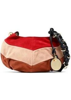 See By Chloé Woman Madie Color-block Suede Shoulder Bag Multicolor