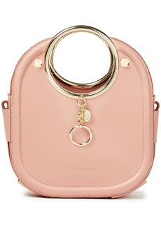 See By Chloé Woman Mara Textured Leather Tote Baby Pink