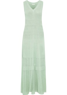 See By Chloé Woman Open-knit Cotton Maxi Dress Mint