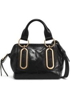See By Chloé Woman Paige Brushed-leather Shoulder Bag Black