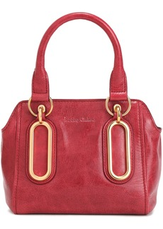 See By Chloé Woman Paige Mini Washed-leather Shoulder Bag Crimson