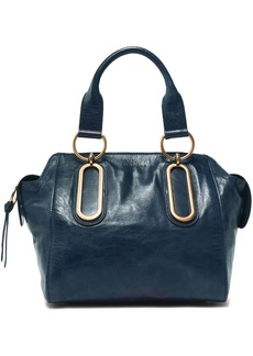 See By Chloé Woman Paige Medium Washed-leather Shoulder Bag Storm Blue