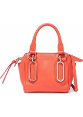 See By Chloé Woman Paige Textured-leather Shoulder Bag Coral