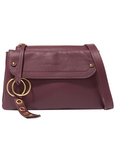 See By Chloé Woman Phill Textured-leather Shoulder Bag Plum