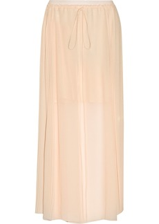See By Chloé Woman Pleated Chiffon Maxi Skirt Peach