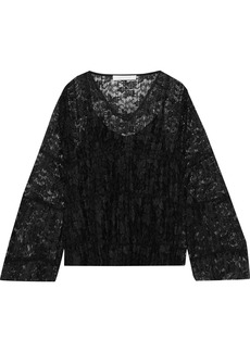 See By Chloé Woman Plissé-lace Top Black