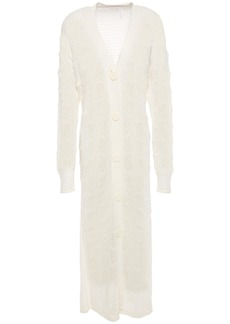 See By Chloé Woman Pointelle-knit Alpaca-blend Cardigan Ivory