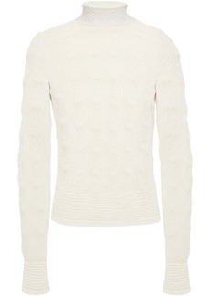 See By Chloé Woman Pointelle-knit Alpaca-blend Sweater Ecru