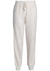 See By Chloé Woman Pointelle-knit Track Pants Ivory