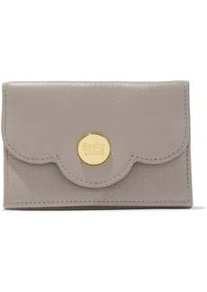 See By Chloé Woman Polina Scalloped Textured-leather Wallet Gray