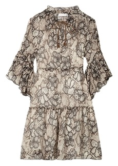 See By Chloé Woman Printed Cotton And Silk-blend Georgette Mini Dress Animal Print