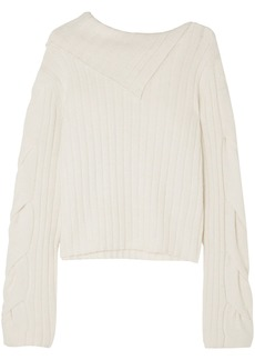 See By Chloé Woman Ribbed-knit Sweater Off-white