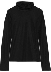 See By Chloé Woman Ribbed Stretch-jersey Turtleneck Top Black