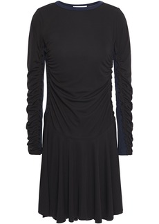 See By Chloé Woman Ruched Stretch-jersey Mini Dress Black