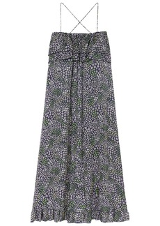 See By Chloé Woman Ruffled Floral-print Satin-twill Maxi Dress Multicolor
