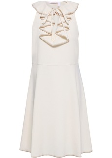 See By Chloé Woman Ruffled Stretch-crepe Dress Ecru