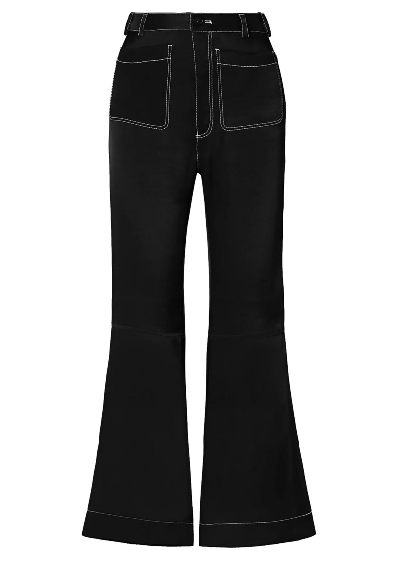 See By Chloé Woman Satin-twill Flared Pants Black
