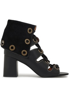 See By Chloé Woman Selma Lace-up Leather Sandals Black