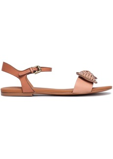See By Chloé Woman Studded Bow-embellished Leather Sandals Blush