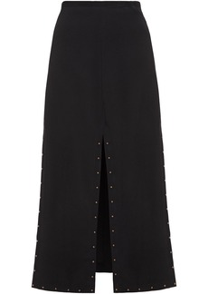 See By Chloé Woman Studded Crepe Midi Skirt Black