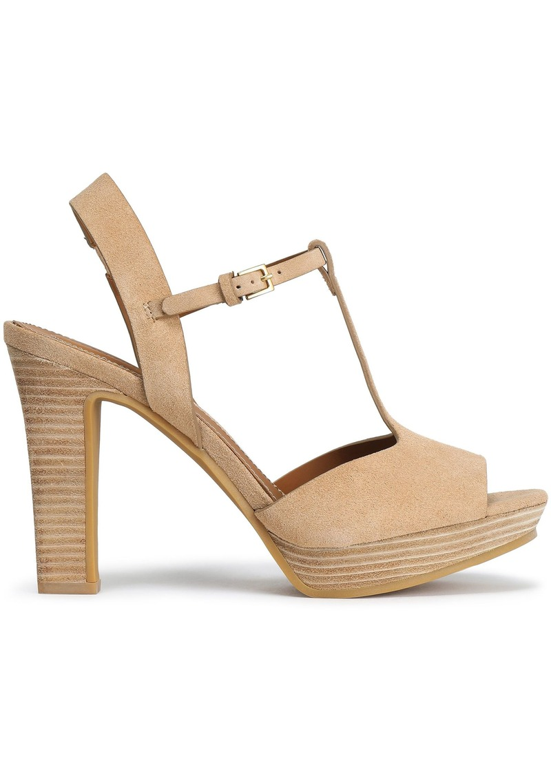See By Chloé Woman Suede Platform Sandals Sand