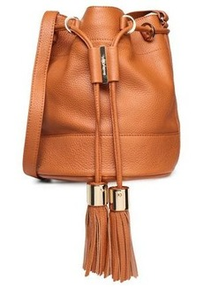See By Chloé Woman Tasseled Leather Bucket Bag Tan