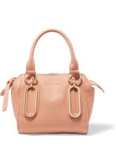 See By Chloé Woman Textured-leather Shoulder Bag Peach