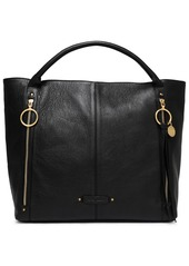 See By Chloé Woman Lana Zip-detailed Pebbled-leather Tote Black