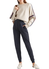 See By Chloé Woman Stretch-crepe Slim-leg Pants Midnight Blue