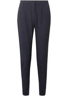 See By Chloé Woman Stretch-crepe Slim-leg Pants Midnight Blue