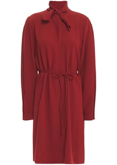 See By Chloé Woman Tie-neck Stretch-crepe Dress Merlot