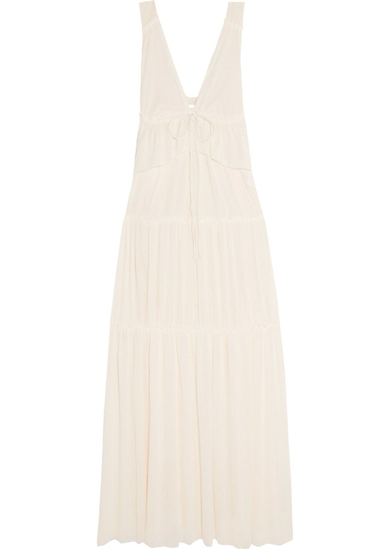 See By Chloé Woman Tiered Voile Maxi Dress Ecru