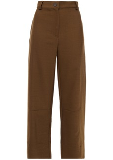 See By Chloé Woman Twill Straight-leg Pants Army Green