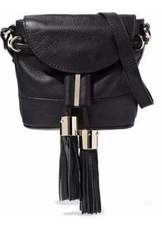 See By Chloé Woman Vicki Mini Pebbled-leather Shoulder Bag Black