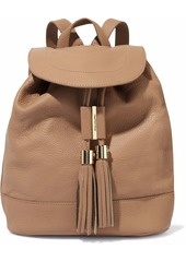 See By Chloé Woman Vicki Pebbled-leather Backpack Sand