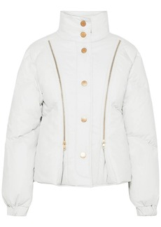 See By Chloé Woman Quilted Cotton-shell Down Jacket Light Gray