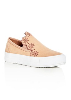 See by Chloé See by Chlo� Women's Inlai Suede Slip-On Platform Sneakers