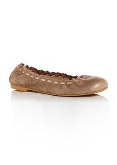 See by Chlo� Women's Nubuck Leather Ballet Flats