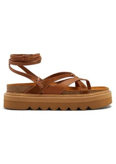 See By Chloé Wrap-around leather flatform sandals