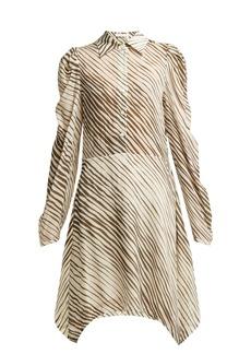 See By Chloé Zebra-striped mini shirt dress
