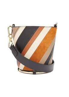 See By Chloé Zelie striped leather bucket bag