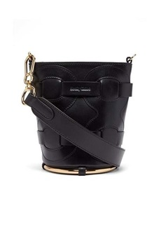 See By Chloé Zelie woven-panel leather bucket bag