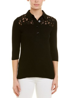 See by Chloé See By Chloe 3/4-Sleeve Wool-Blend Polo